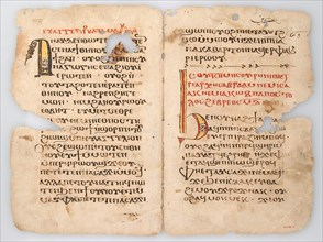 Leaves from a Coptic Manuscript, Coptic, 6th-14th century (?).