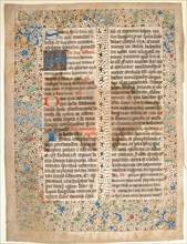 Manuscript Leaf from a Missal, French, mid-15th century.