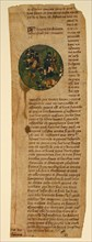 Manuscript Cutting from the Grande Chroniques de France, French, mid-15th century.