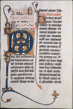 Manuscript Leaf with Initial M, from a Missal, French, ca. 1290.