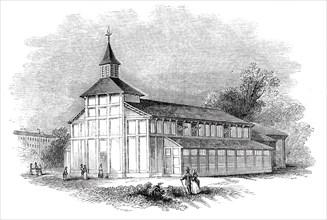 Temporary church, Kentish Town, 1844. Creator: Unknown.