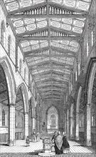 Interior of St. Mary's New Church, Herne Hill, 1844. Creator: Unknown.