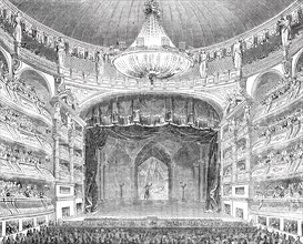 English theatricals at Paris - the Salle Ventador, 1844. Creator: Unknown.