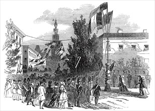 Reception of Her Majesty at Antwerp, 1845. Creator: Unknown.