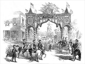 Her Majesty's Entrée in to Coburg, 1845. Creator: Ebenezer Landells.