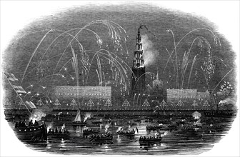 The Illumination of Antwerp, at Her Majesty's Return, 1845. Creator: Unknown.