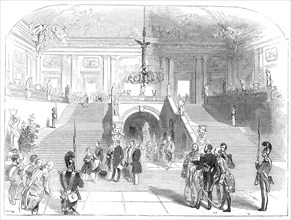 The Grand Staircase, in the Palace at Wurzburg, 1845. Creator: Unknown.