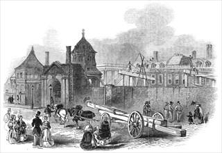 Present state of the British Museum, 1845. Creator: Ebenezer Landells.