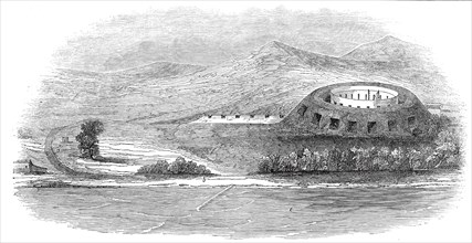 Fort at Tamatave, Madagascar, the scene of the late affray, 1845. Creator: Unknown.