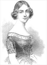 Jenny Lind, the celebrated Swedish vocalist, 1845. Creator: Smyth.