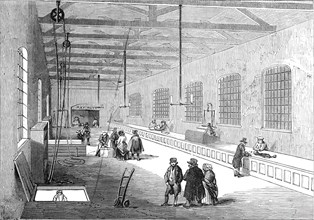 New foreign baggage warehouse, St. Katherine's Docks, 1845. Creator: Unknown.