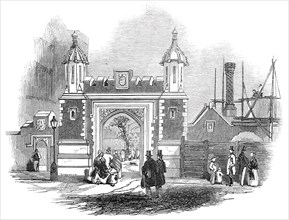Entrance gateway, Lincoln's Inn Fields, 1845. Creator: Unknown.