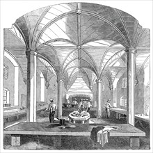 The kitchen of Lincoln's Inn New Buildings, 1845. Creator: Unknown.