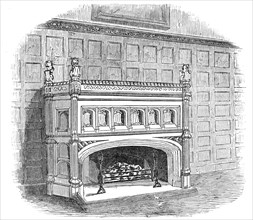 Drawing-room chimney piece, Lincoln's Inn New Buildings, 1845. Creator: Unknown.