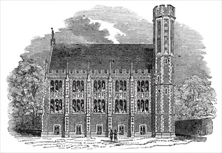 The Library, Lincoln's Inn New Buildings, 1845. Creator: Unknown.