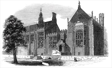 Eastern or garden front, Lincoln's Inn New Buildings, 1845. Creator: Unknown.