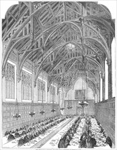 The Great Hall, Lincoln's Inn - the Royal Dejeuner, 1845. Creator: Unknown.