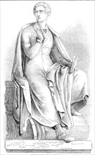 Thorwaldsen's statue of Lord Byron, 1845. Creator: W. J. Linton.