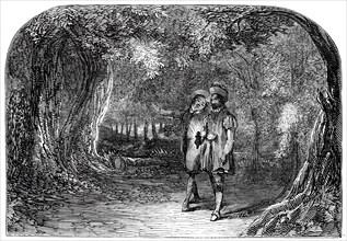 "Scene from ""La Partie de Chasse de Henri Quatre"", at the St. James's Theatre, 1845. Creator: Unknown."