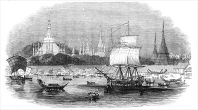 Rangoon, the principal port of the Birman Empire, 1845. Creator: Unknown.