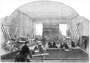 Railway Room, Office of the Board of Trade, 1845. Creator: Unknown.