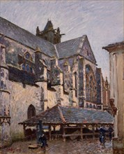 The Church at Moret in the Rain