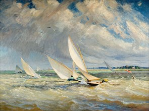 Yachts Racing In Bad Weather - Burnham-On-Crouch