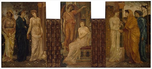 Cupid and Psyche - Palace Green Murals - Psyche's Sisters visit her at Cupid's House