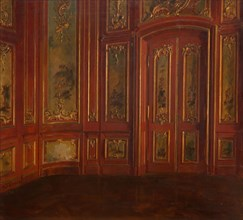 Interior Of A Room With Rococo Panelling