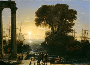 Coastal Scene with the Embarkation of Saint Paul