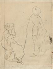 "Study for ""Mary Cassatt at the Louvre"" [verso]"