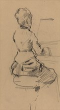 Young Woman Seated at a Piano [verso]