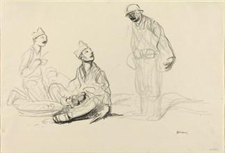 Soldiers Preparing a Meal
