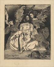 Dead Christ with Angels