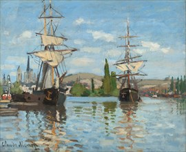 Ships Riding on the Seine at Rouen