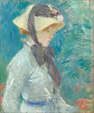Young Woman with a Straw Hat