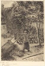 A Woman Emptying a Wheelbarrow