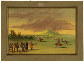 La Salle Meets a War Party of Cenis Indians on a Texas Prairie. April 25