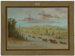 La Salle's Party Entering the Mississippi in Canoes. February 6