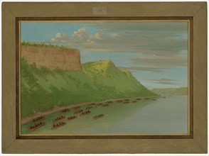 Father Hennepin and Companions Passing Lover's Leap. April 1680