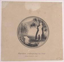 Hidden silhouette of Napoleon contemplating his tomb
