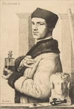 Portrait of Félix Bracquemond in 1852