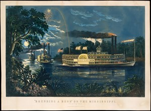 Rounding a Bend on the Mississippi - The Parting Salute