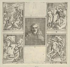 Five numbered scenes