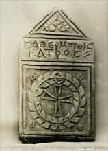 Funerary Stele with Cross Medallion