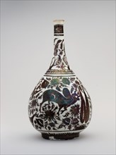 Pear-Shaped Bottle with a Bullock Design