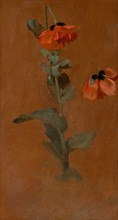 Study of Poppies;Poppies, 1832. Formerly attributed to John Constable