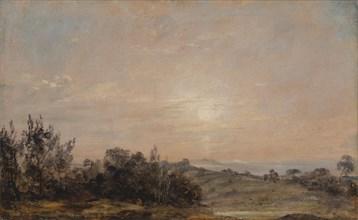 Hampstead Heath looking towards Harrow;Hampstead Heath at Sunset, looking towards Harrow;Hamstead Heath at sunset, Looking towards Harrow;Hampstead Heath at Sunset , Looking Towards Harrow;Harrow from...