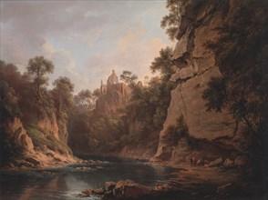 Hawthornden Castle, near Edinburgh, between 1820 and 1822.