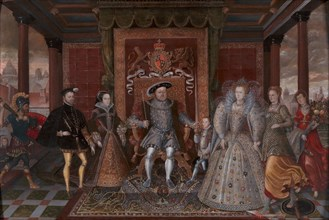 An Allegory of the Tudor Succession: The Family of Henry VIII;Allegory of the Tudor Succession (The Family of Henry VIII), ca. 1590. after Lucas de Heere